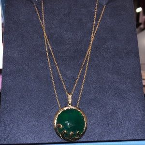 Jewelry - Green Agate Pendent Necklace